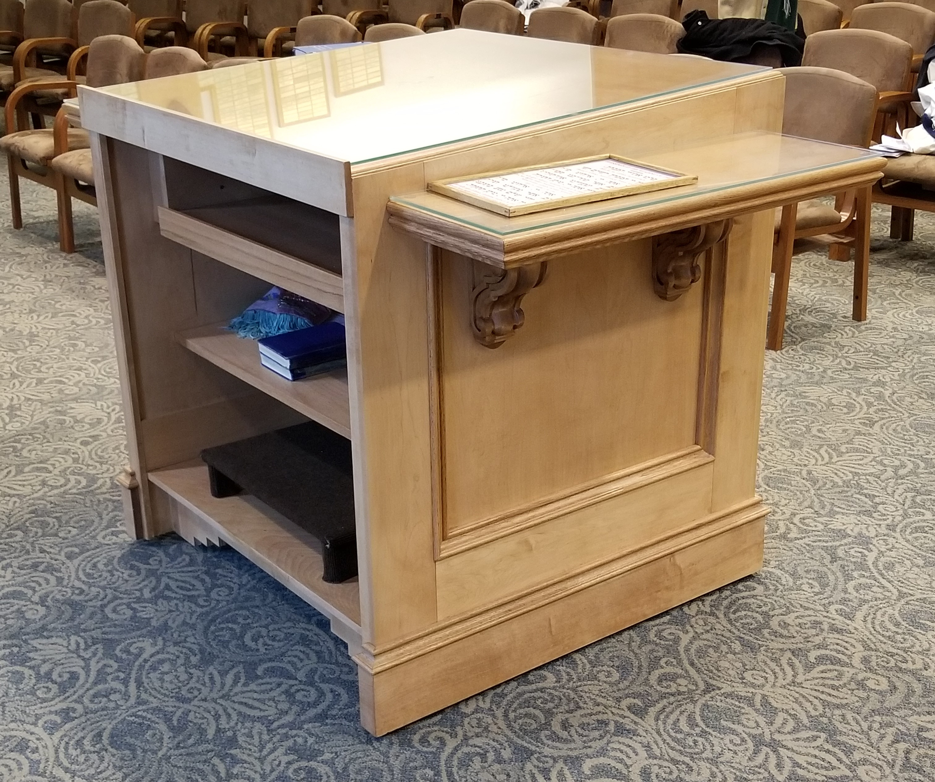 Torah Table, Drawer Closed