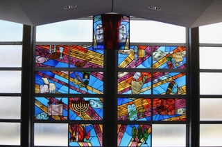 19 Social hall stained glass