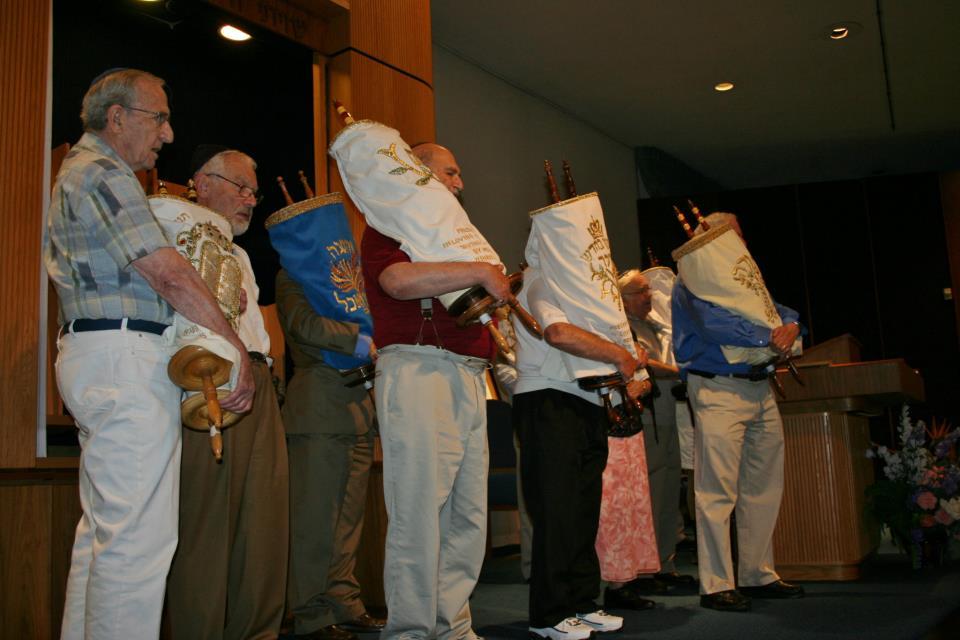 Members-with-Torahs-on-bima
